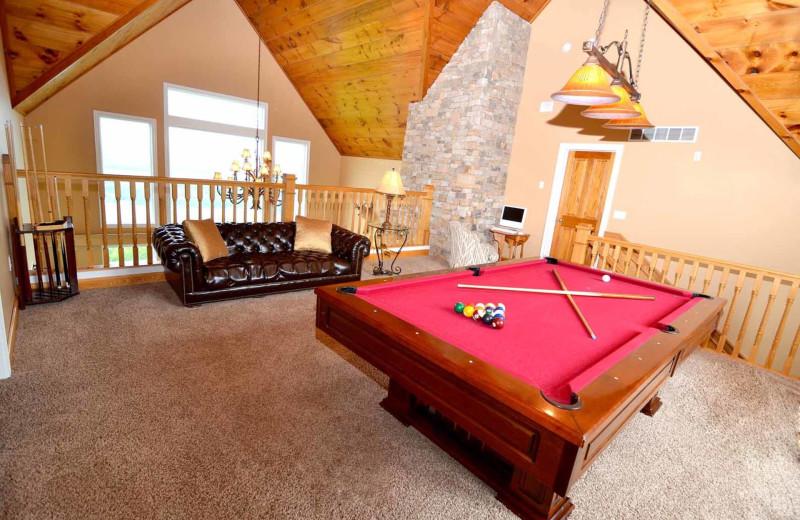 Rental loft at Railey Mountain Lake Vacations.
