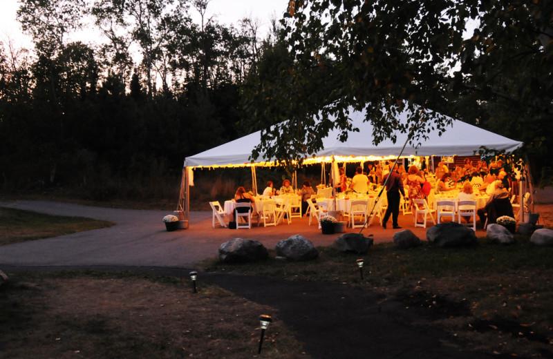 Wedding reception at White Eagle Resort.