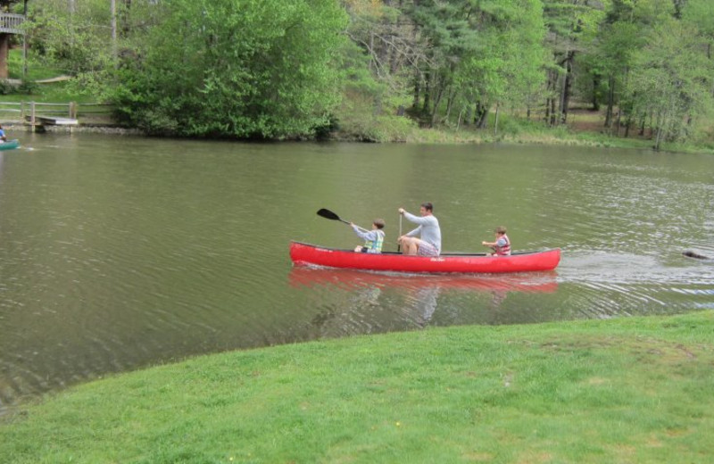 Canoeing at Mill House Lodge.