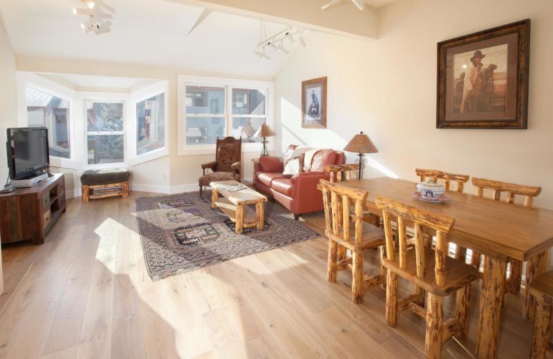 Vacation rental interior at SilverStar Luxury Properties.