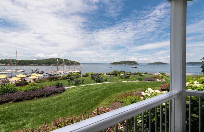 Guest balcony view at Bar Harbor Inn & Spa.