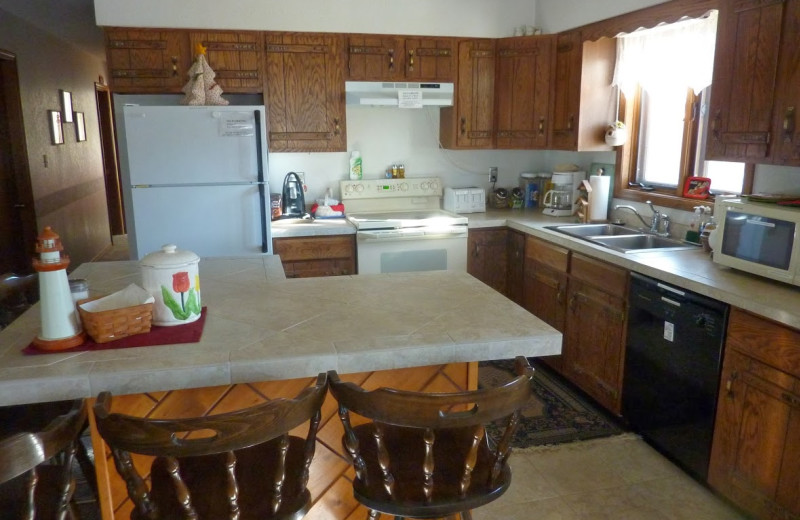 Kitchen at Mountain Vista Bed & Breakfast.