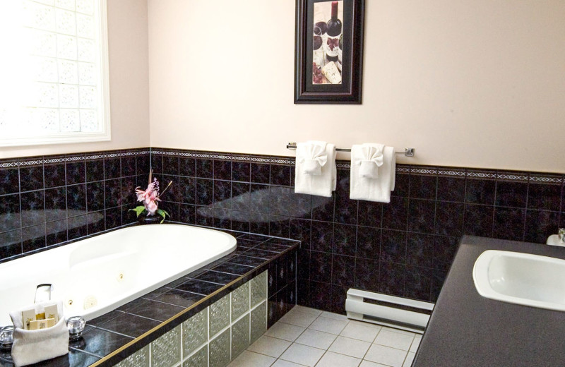 Guest bathroom at Ocean Trails Resort.