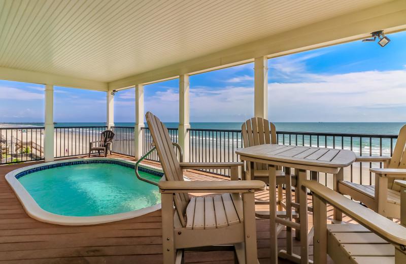 Rental deck at Sea Star Realty.