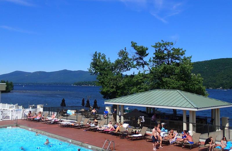 Outdoor pool at The Georgian Lakeside Resort.