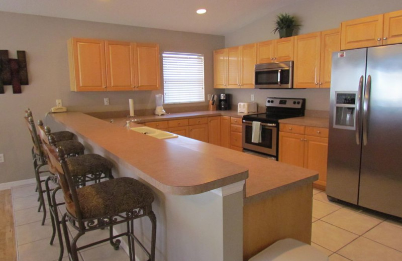 Rental kitchen at Long Key Vacation Rentals.