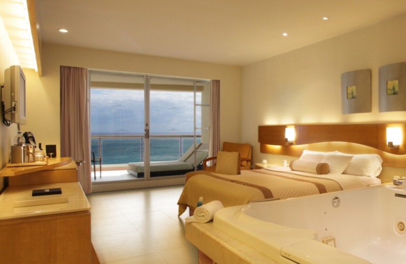 Guest room at Beach Palace.