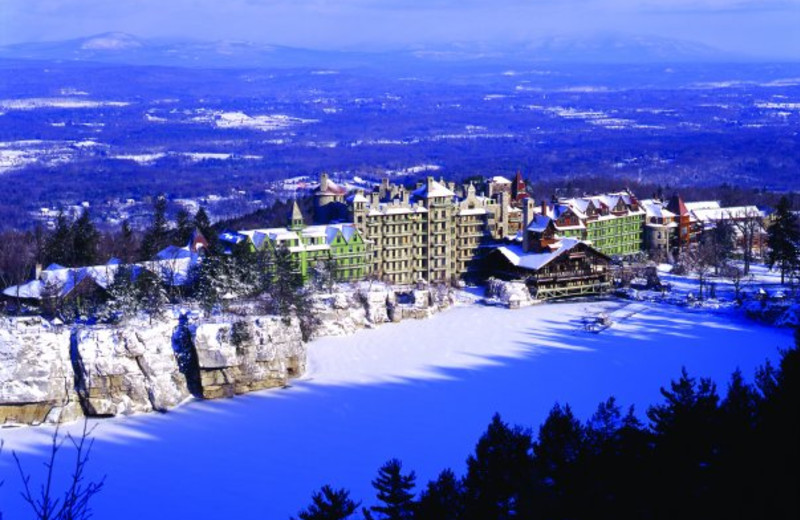 Aerial view of Mohonk Mountain House.