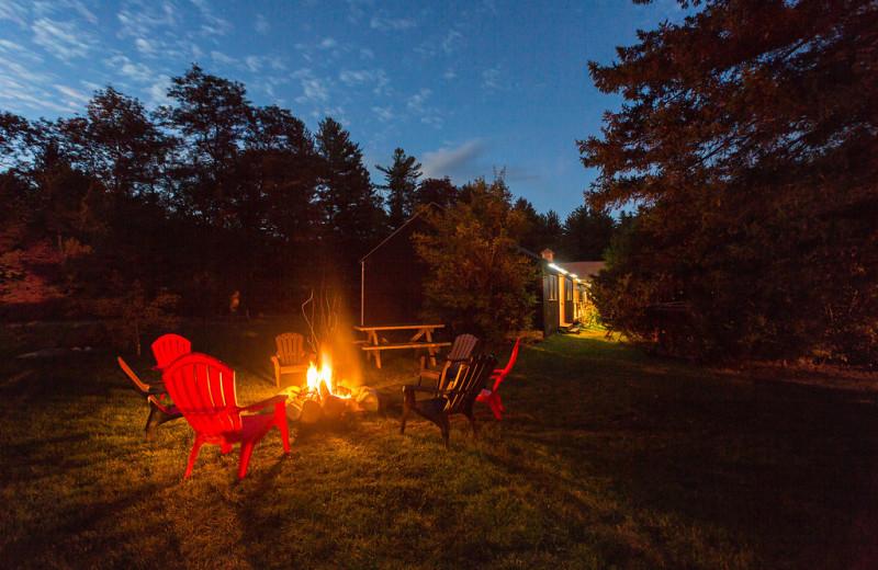 Bonfire at ADK Trail Inn.