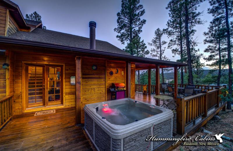A beautiful twilight hot tub experience