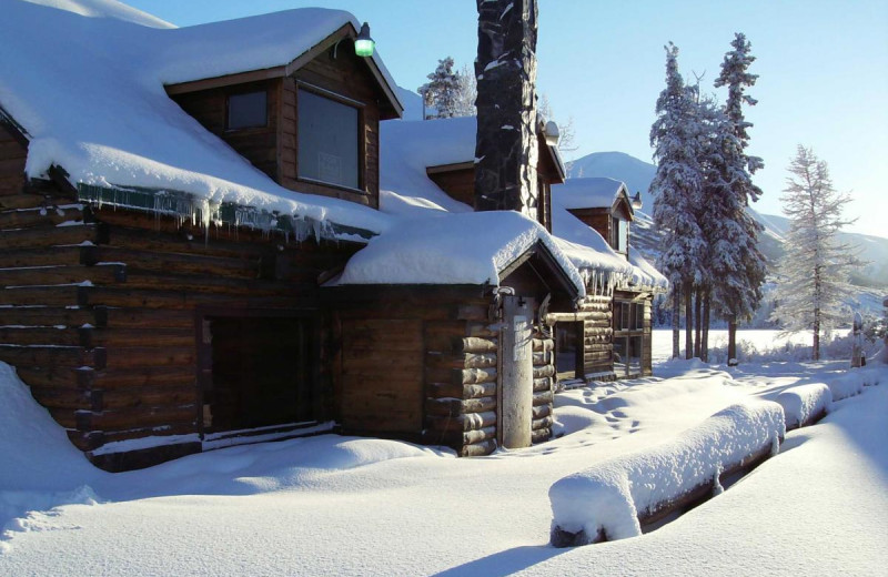 Winter at Summit Lake Lodge.