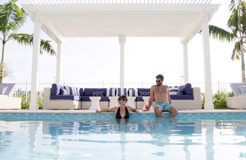 Couple in pool at Oceans Edge Key West Resort & Marina.