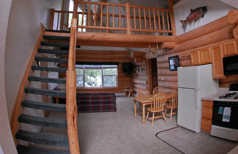 Cabin interior at All Alaska Outdoor Lodge.