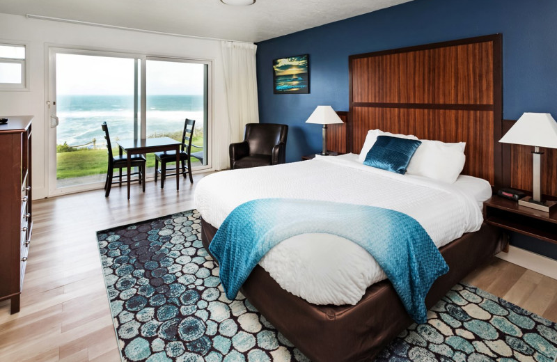 Guest room at Surfrider Resort.