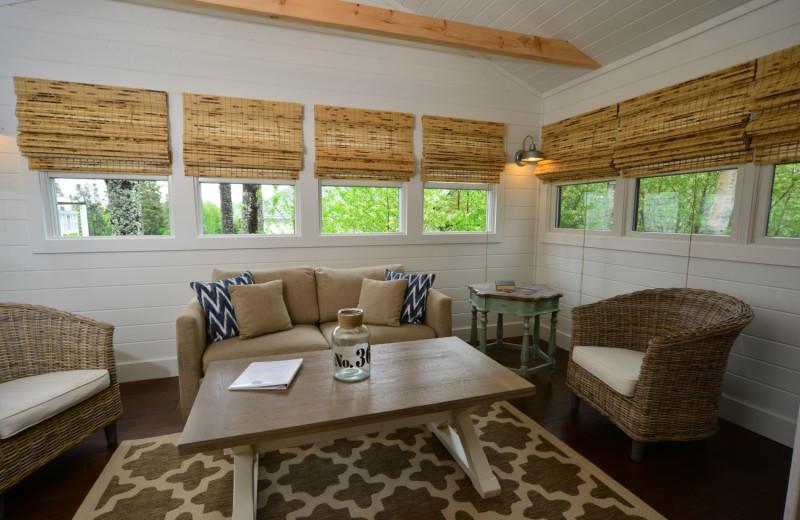 Cabin living room at Newagen Seaside Inn.