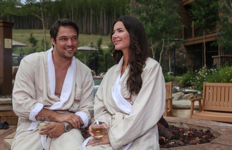 Couple at Grand Lodge on Peak 7.