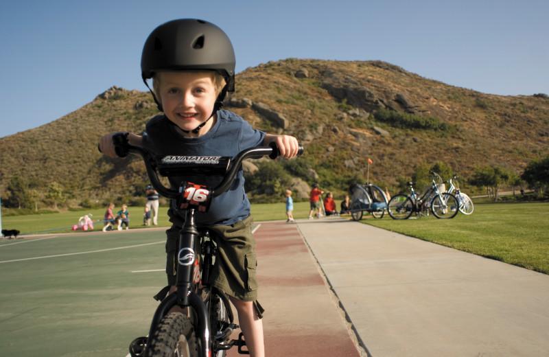 Biking at Foscoe Rentals.