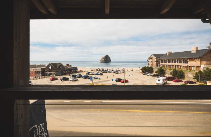 Balcony view at Inn at Cape Kiwanda.