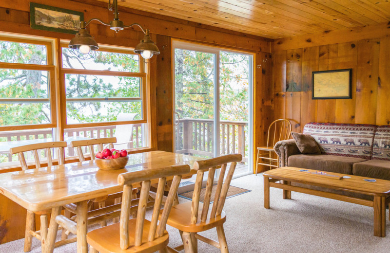 Cabin interior at White Eagle Resort.