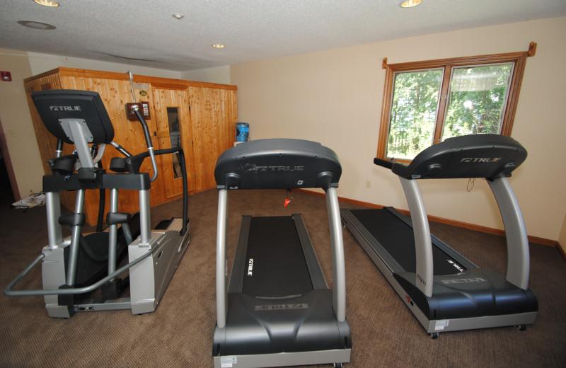 Fitness center at Black Swan Inn.