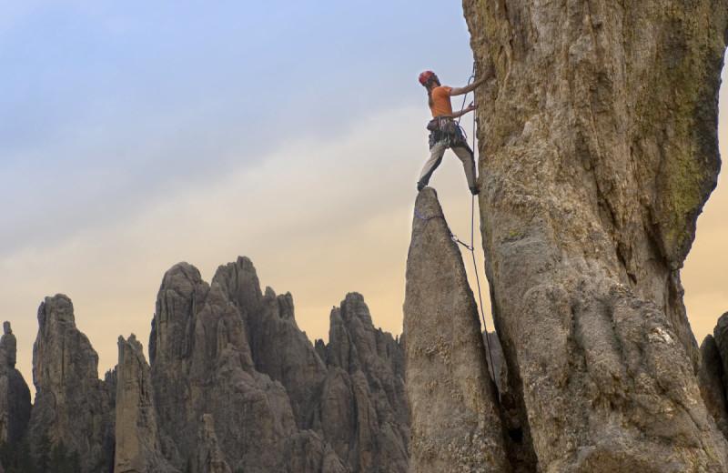 Rock climbing at Needles Highway near Summer Creek Inn & Spa.