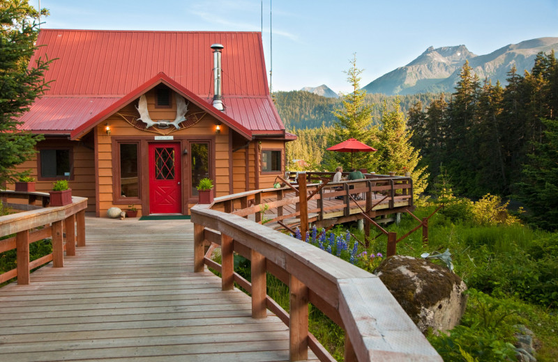 Exterior view of Alaska's Tutka Bay Wilderness Lodge.