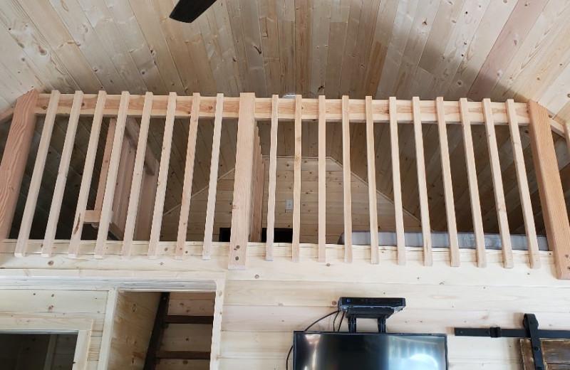 Cabin loft at Silver Beach Resort.