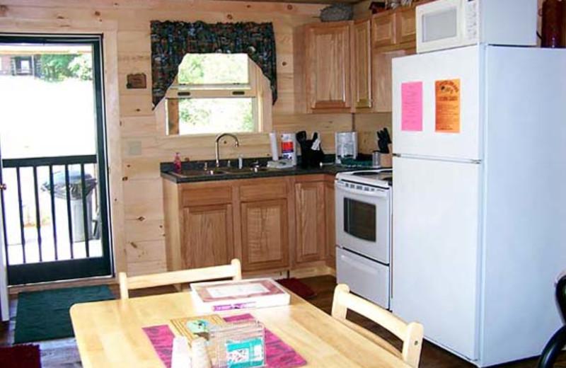 Cabin Kitchen at Sunrise Ridge Guide Service
