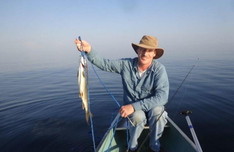 Fishing at Cascade Lodge.