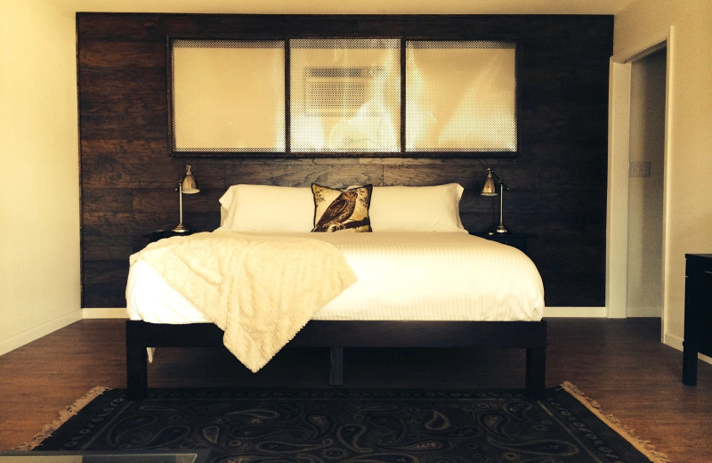 Guest bedroom at Hotel Flora & Fauna.