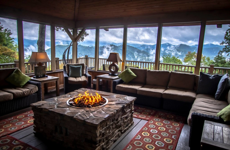 Sitting room at Snowbird Mountain Lodge.