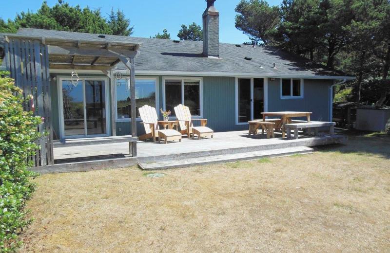 Rental exterior at Oceanfront Getaways.