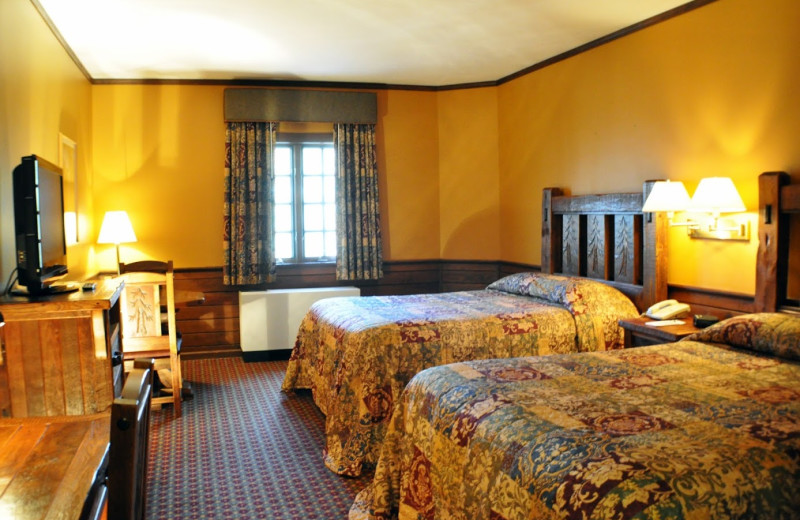 Guest room at Starved Rock Lodge & Conference Center.