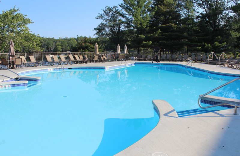 Outdoor pool at Woodloch Resort.