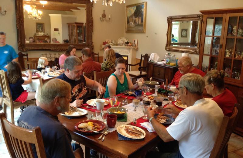 Breakfast at Ozark Country Inn.