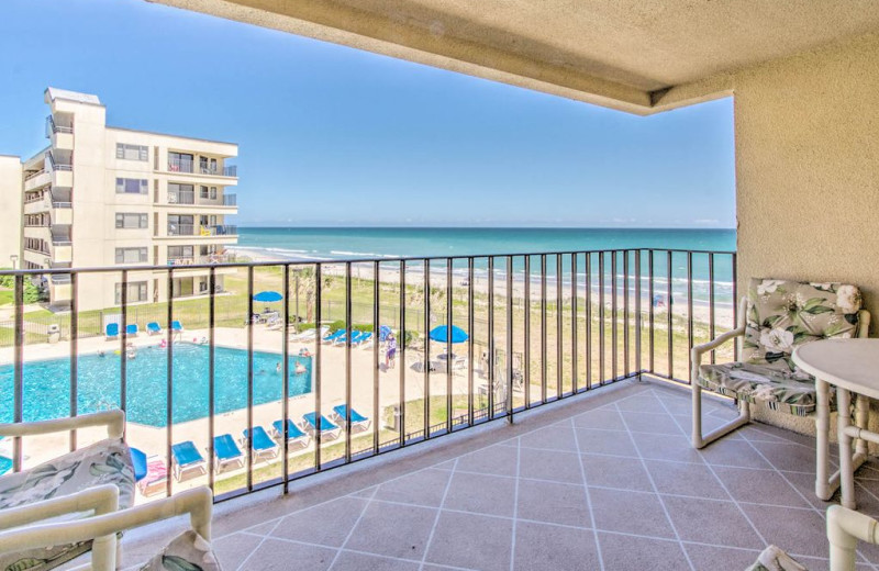 Rental balcony at Realty World - First Coast Realty.
