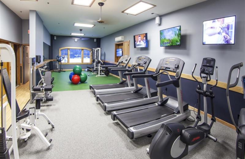 Fitness room at Golden Arrow Lakeside Resort.