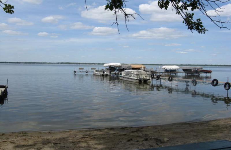 Fishing dock at Wild Walleye Resort.