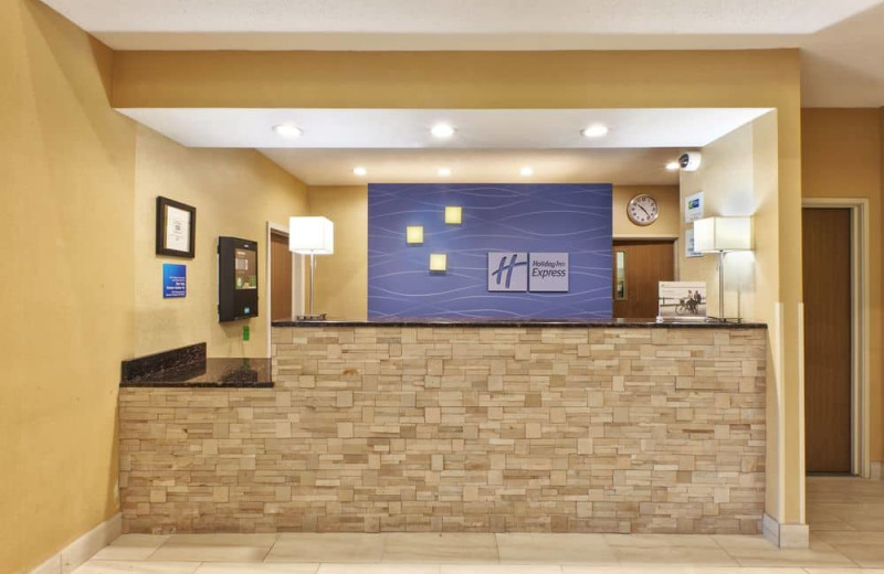 Check in desk at Holiday Inn Express Hotel & Suites - Benton Harbor.