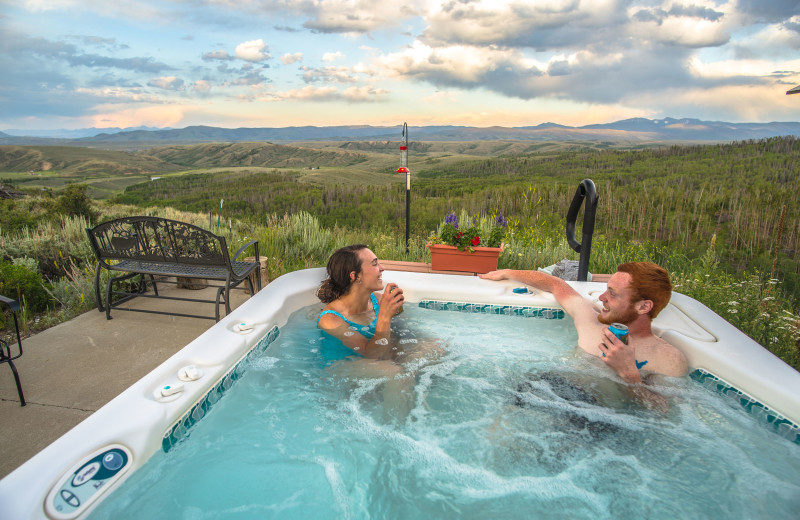 Hot tub at Williams Fork Lodging.