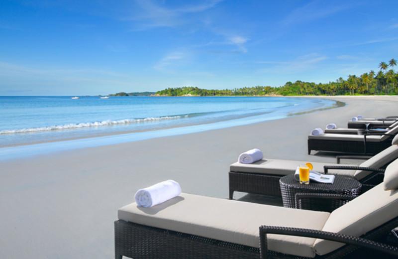 The beach at Angsana Resort & Spa Bintan.