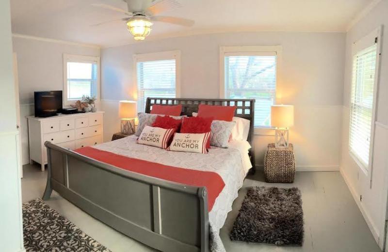 Rental bedroom at Vacation New Braunfels.