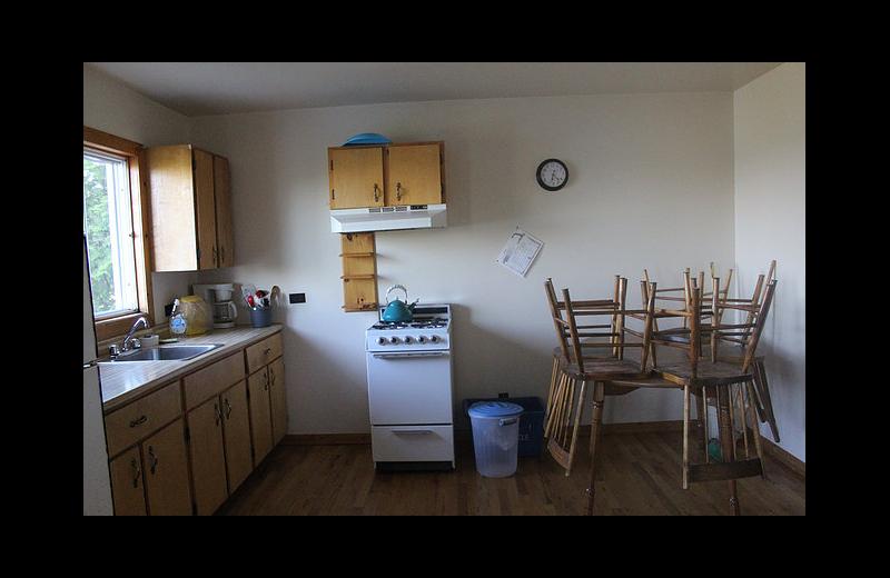 Cabin kitchen at Black Rock Resort.