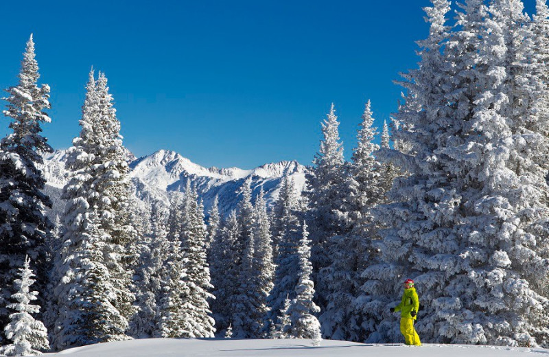 Skiing at Arrabelle at Vail Square.