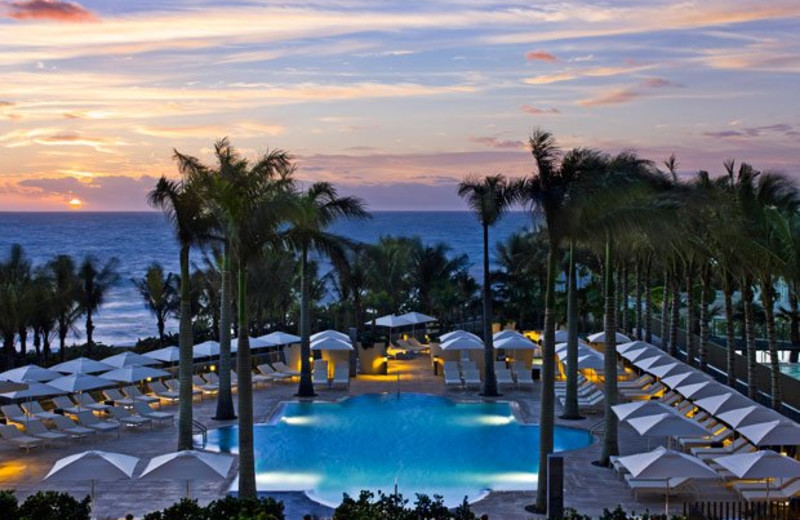 Outdoor pool at The St. Regis Bal Harbour Resort.