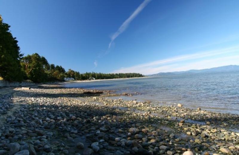 Beach view at Sunrise Ridge Resort.