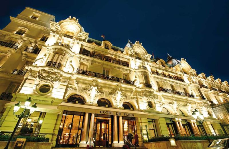 Exterior view of Hotel de Paris.