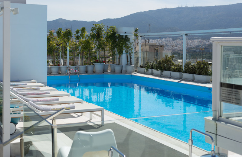 Outdoor pool at St. Gorge Lycabettus Boutique Hotel.