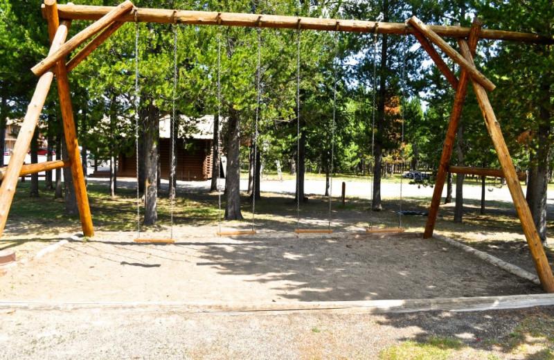 Swings at Sawtelle Mountain Resort.