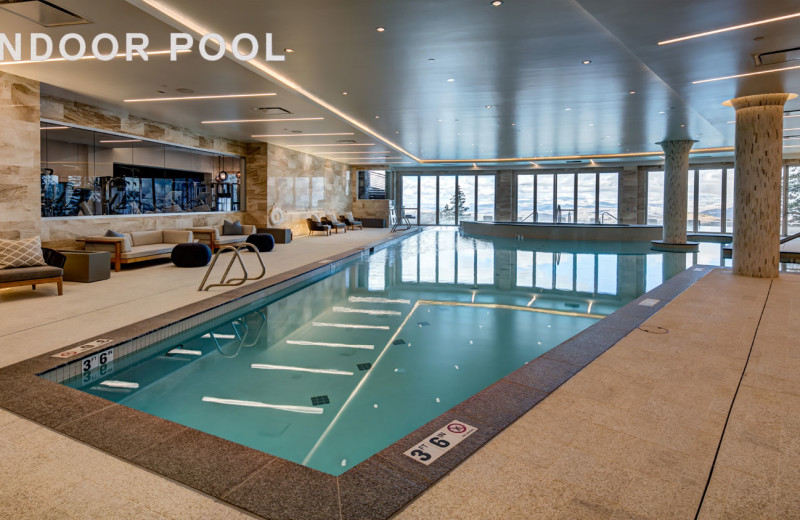 Indoor pool at Stein Eriksen Residences.
